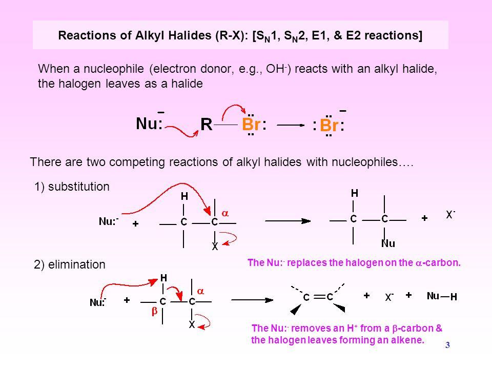 Reactions of Alkyl Halides (R-X): [SN1, SN2, E1, & E2 reactions]